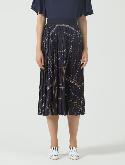 Colour Bolt Pleat Skirt Sportmax