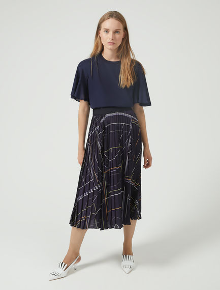 Colour Bolt Pleat Skirt