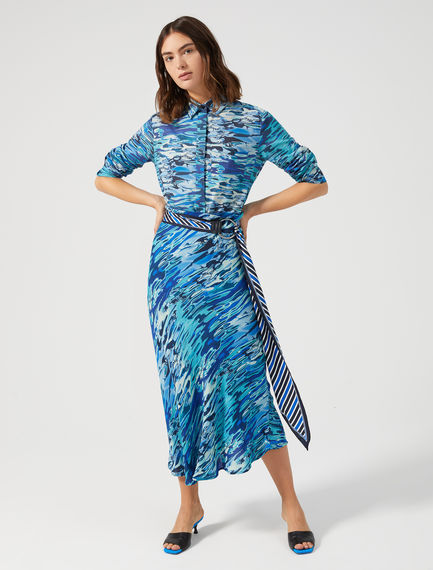 Bias-cut Water Print Skirt Sportmax