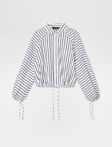 Striped Drawstring Shirt