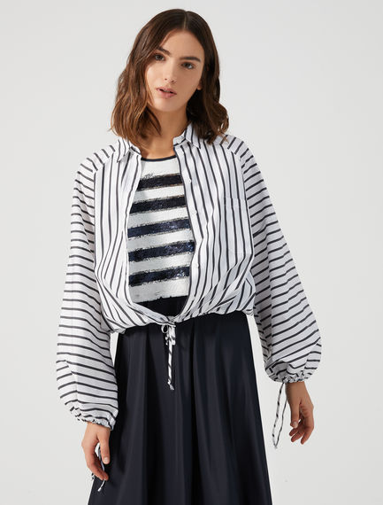 Striped Drawstring Shirt Sportmax