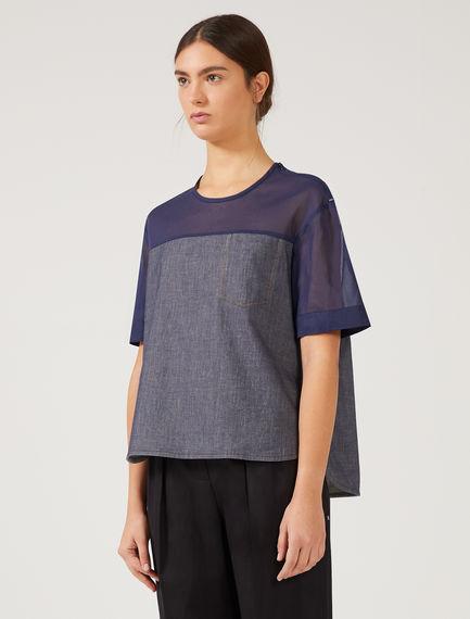 Denim & Organza T-shirt