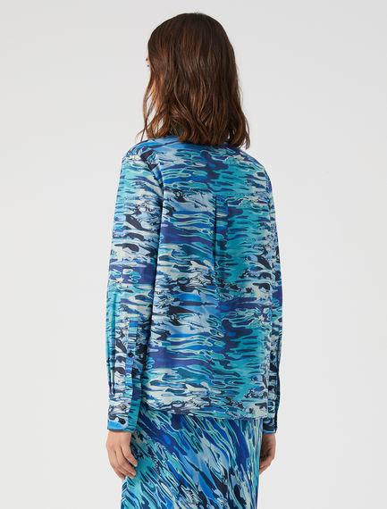 Water Print Muslin Shirt