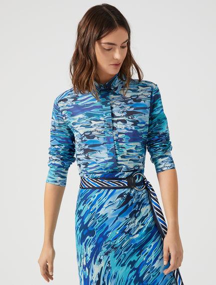 Water Print Muslin Shirt Sportmax