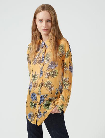 Camicia in chiffon con stampa floreale Sportmax