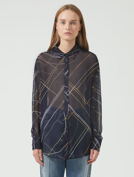 Sheer Geometry Shirt