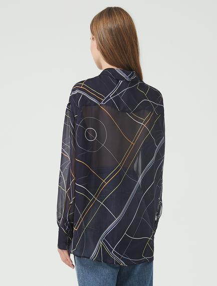 Camicia con stampa geometrica
