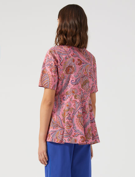 Top con stampa paisley