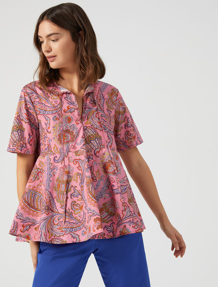 Top con stampa paisley Sportmax