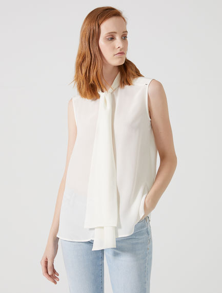 Bow-Tied Scarf Silk Blouse Sportmax