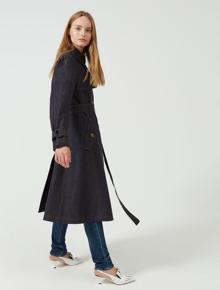 Transforming Denim Trench Coat