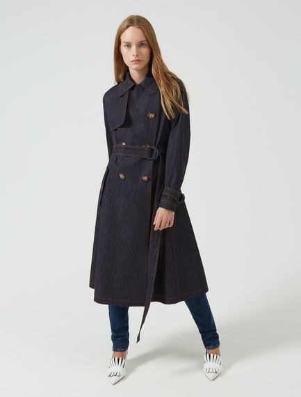 Transforming Denim Trench Coat Sportmax