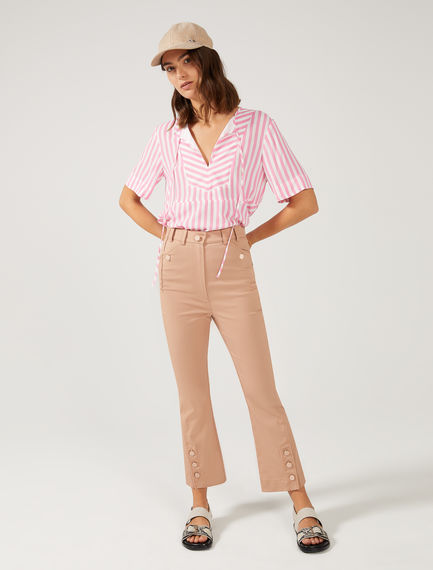 Button Kick-Flare Cropped Trousers Sportmax