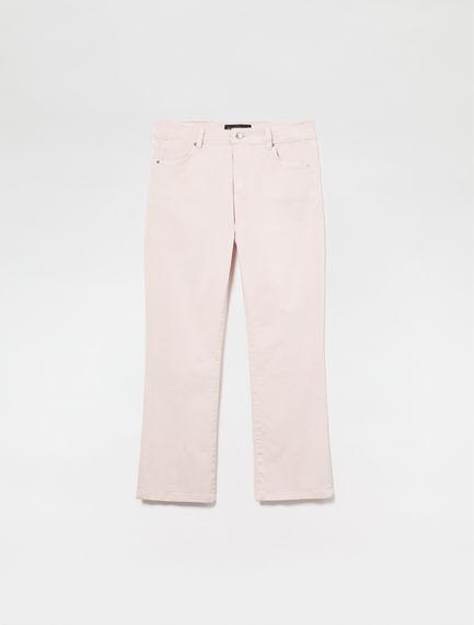 Pantaloni slim in gabardina di cotone