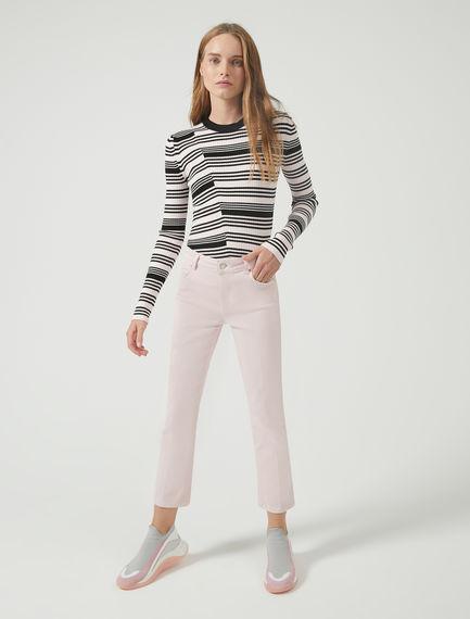 Pantaloni slim in gabardina di cotone Sportmax