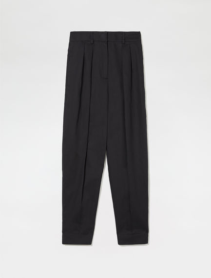 Tapered Pleat Trousers