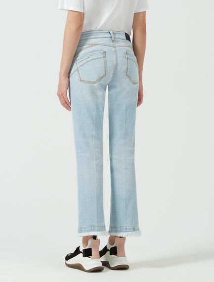 Fringed Kick Flare Jeans