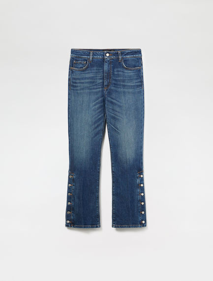 Buttoned Kick Flare Jeans
