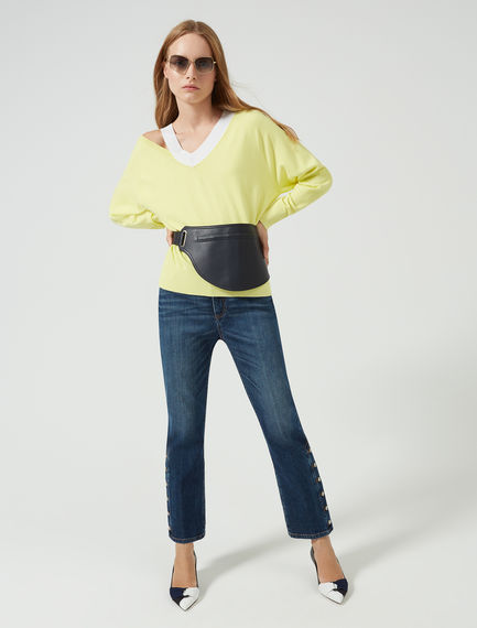 Buttoned Kick Flare Jeans Sportmax