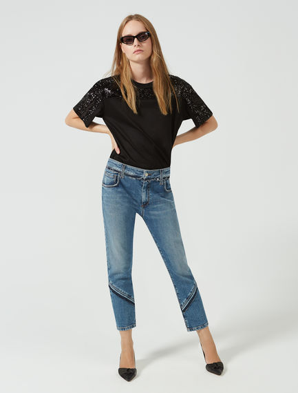 Oblique Fringed Jeans Sportmax