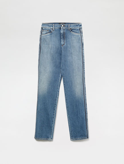 Washed Out Fringe Jeans