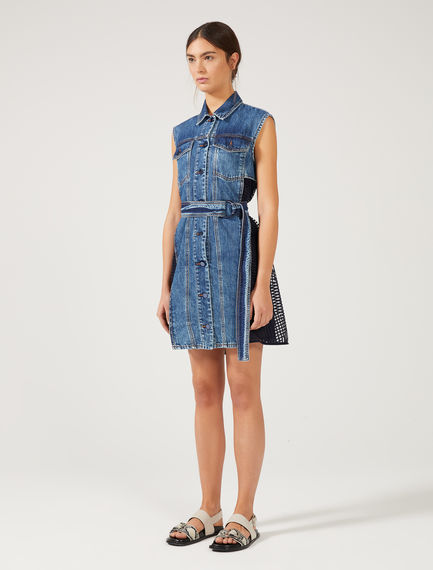 Denim & Tulle Mini Dress