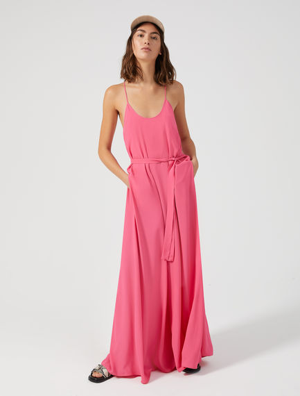 Maxi dress in seta