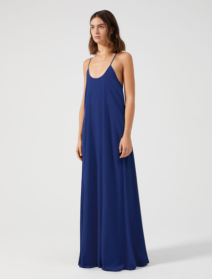 Silk Maxi Shift Dress