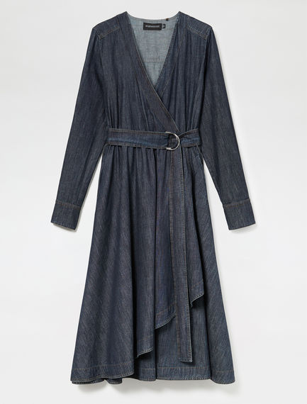 Wrap-around Denim Robe Sportmax