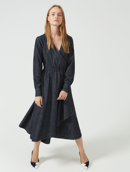 Wrap-around Denim Robe