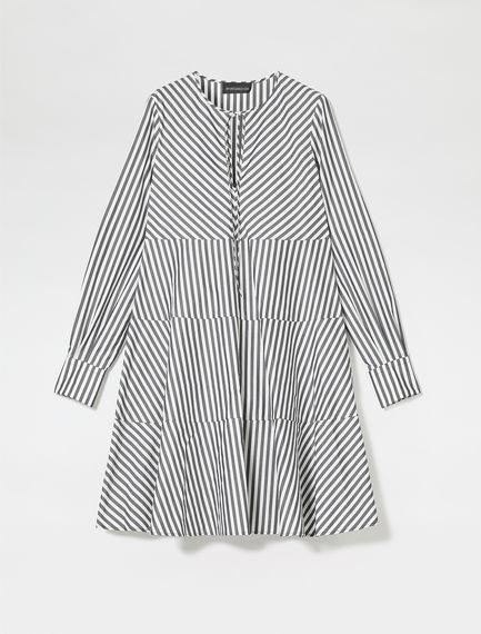 Poplin Trapeze Shirtdress