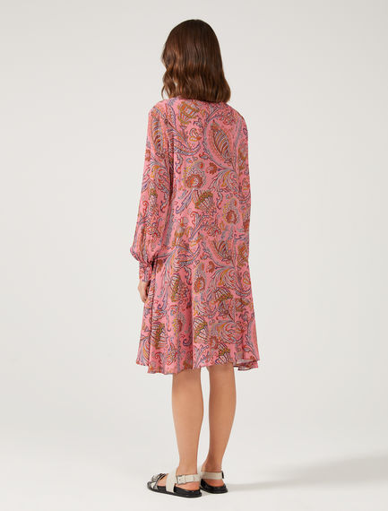 Paisley Trapeze Dress