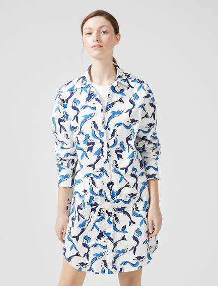 Siren Print Shirtdress Sportmax