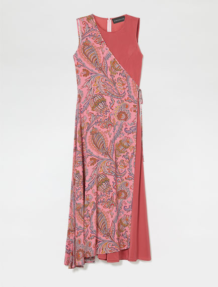 Transforming Paisley Silk Wrap Dress