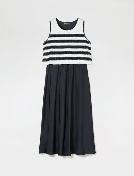 Layered Sequin Stripe Dress