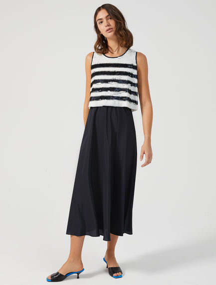 Layered Sequin Stripe Dress Sportmax