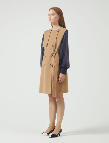 Sleeveless Double Wool Dress