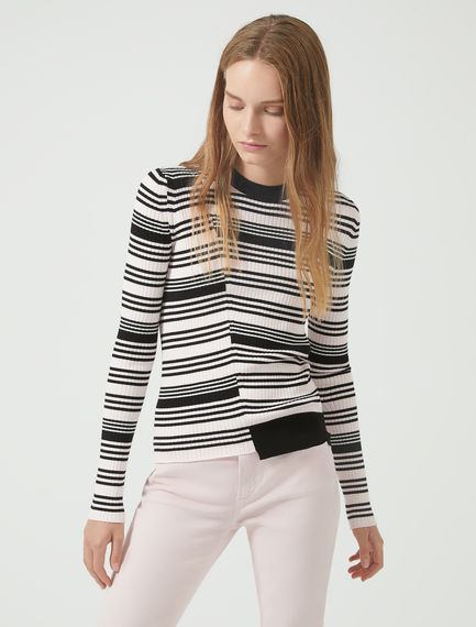 High-Res Stripe Knit Sportmax