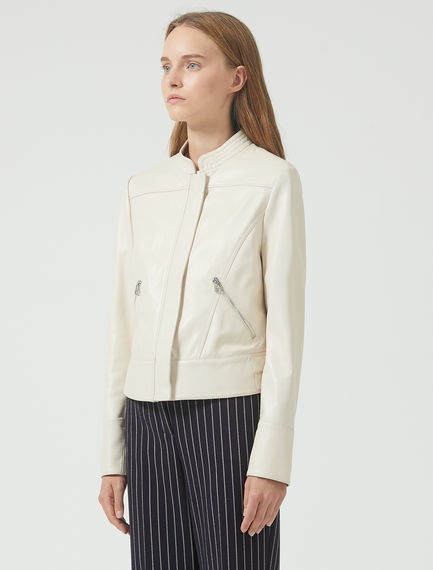 Moto jacket in nappa