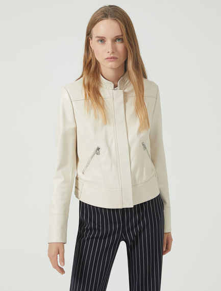 Nappa Leather Moto Jacket Sportmax