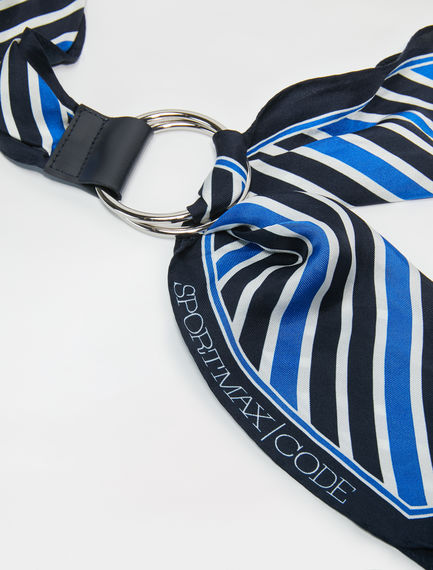 Striped Silk Sash Belt