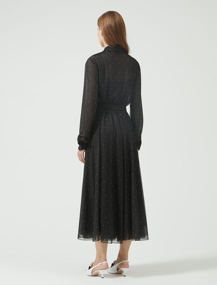 Studded Tulle Midi Dress Sportmax