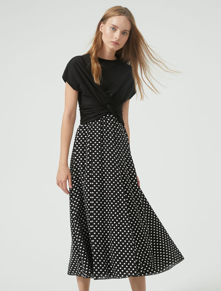 Abito con incrocio e gonna a pois Sportmax