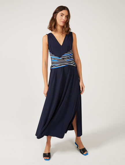 Stripe Sash Midi Dress Sportmax