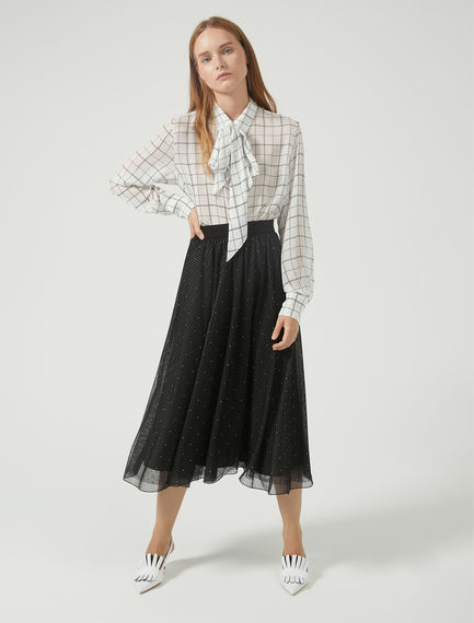 Gonna in tulle con micro borchie Sportmax