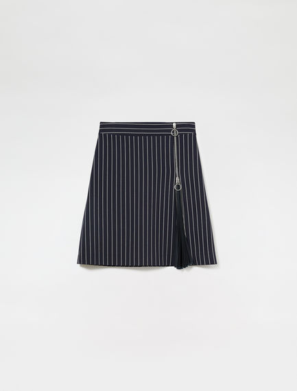Pinstriped Accordion Skirt