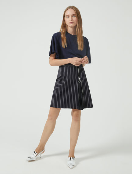 Pinstriped Accordion Skirt Sportmax