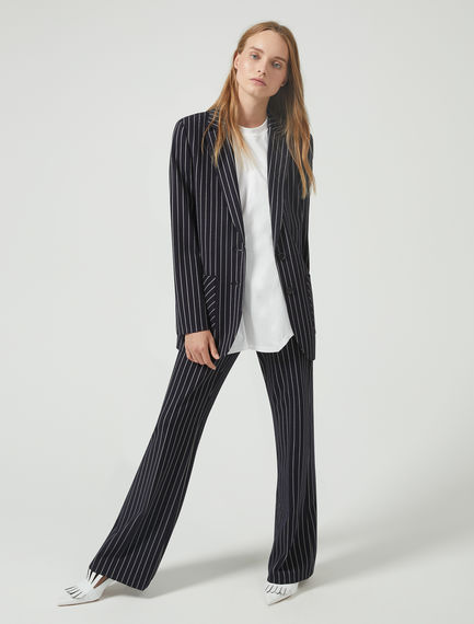 Elongated Pinstripe Trousers Sportmax