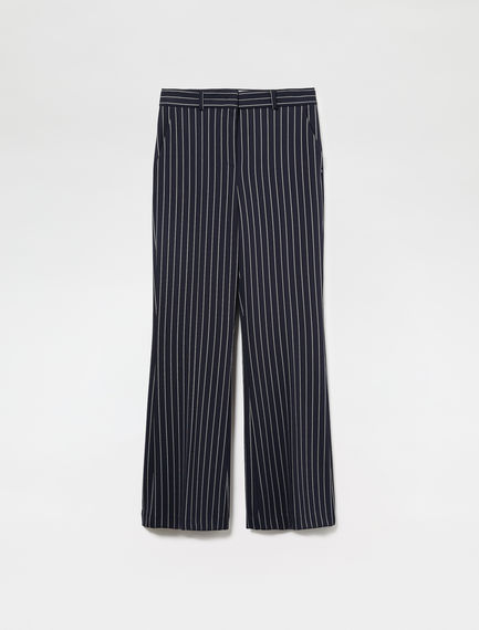 Elongated Pinstripe Trousers