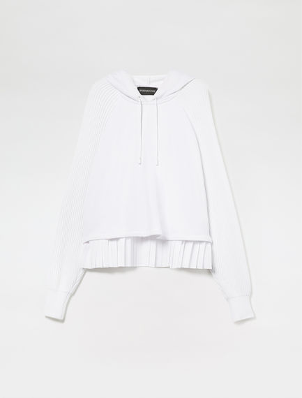 Layered Pleat Cotton Sweatshirt Sportmax
